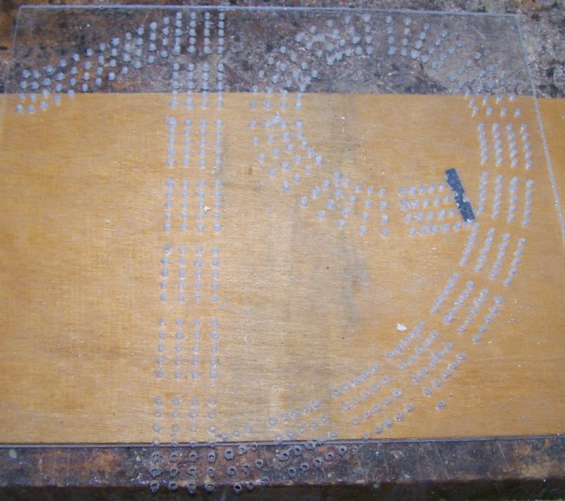 Custom Cribbage Board Drilling Templates