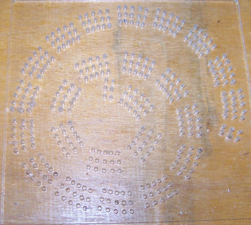 Cribbage board drilling templates geometric shaped templates for Cribbage board drilling templates